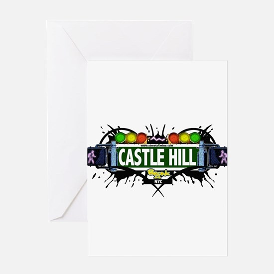 Castle Hill Bronx NYC (White) Greeting Card