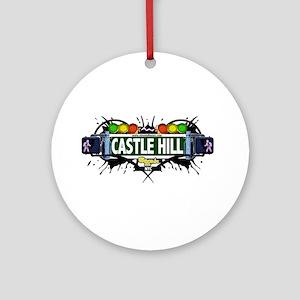 Castle Hill Bronx NYC (White) Ornament (Round)