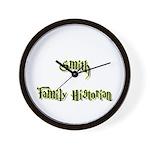 Smith Family Historian Wall Clock