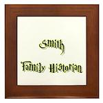 Smith Family Historian Framed Tile
