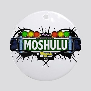 Moshulu Bronx NYC (White) Ornament (Round)