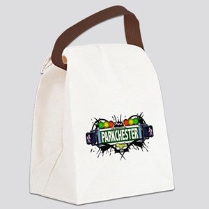 Parkchester Bronx NYC (White) Canvas Lunch Bag