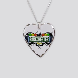 Parkchester Bronx NYC (White) Necklace Heart Charm