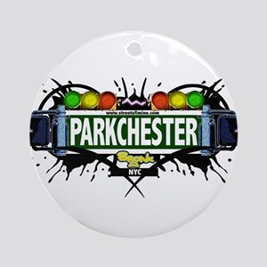 Parkchester Bronx NYC (White) Ornament (Round)