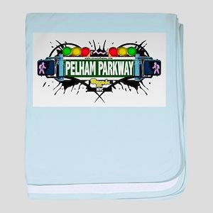 Pelham Parkway Bronx NYC (White) baby blanket