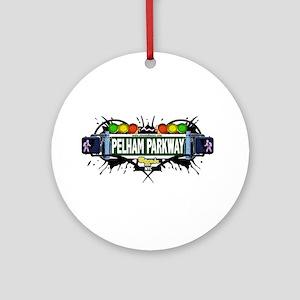 Pelham Parkway Bronx NYC (White) Ornament (Round)
