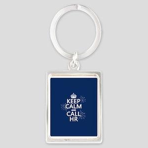 Keep Calm and Call H.R. Portrait Keychain