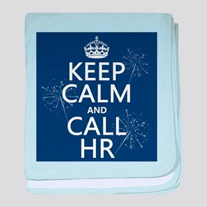 Keep Calm and Call H.R. baby blanket