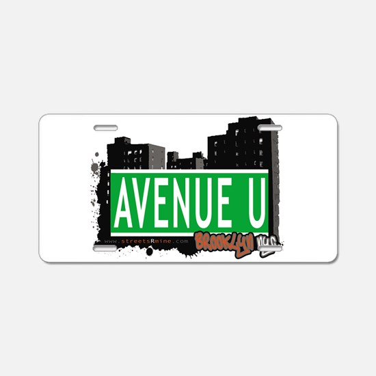 Avenue U, Brooklyn, NYC Aluminum License Plate