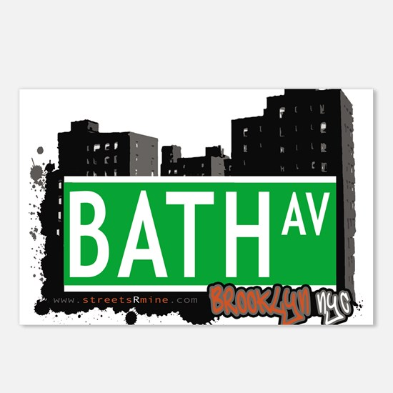 Bath avenue, BROOKLYN, NYC Postcards (Package of 8