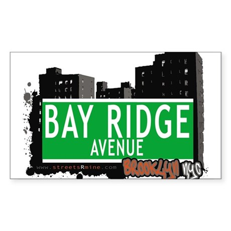 Bay Ridge avenue, BROOKLYN, NYC Sticker (Rectangle