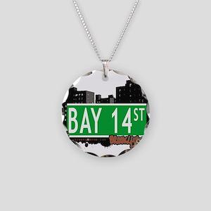 Bay 14 street, BROOKLYN, NYC Necklace Circle Charm