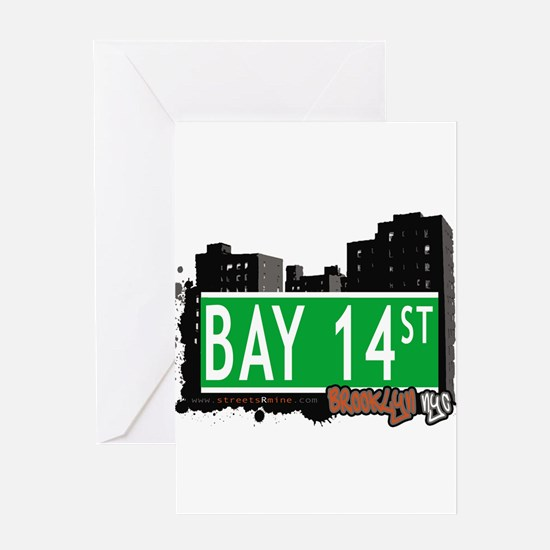 Bay 14 street, BROOKLYN, NYC Greeting Card