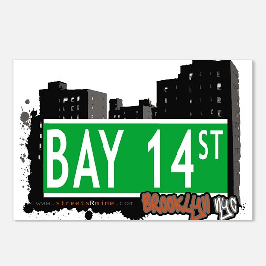 Bay 14 street, BROOKLYN, NYC Postcards (Package of