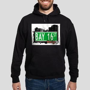 Bay 16 street, BROOKLYN, NYC Hoodie (dark)