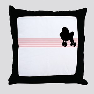 Retro Poodle Throw Pillow