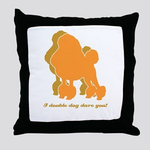 Poodle Double Dog Throw Pillow
