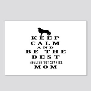 Keep Calm English Toy Spaniel Designs Postcards (P