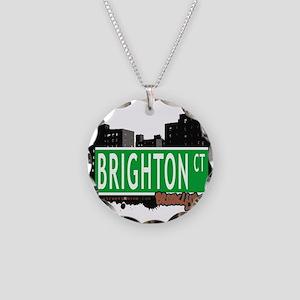 Brighton court, BROOKLYN, NYC Necklace Circle Char
