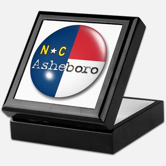 Asheboro North Carolina Flag Keepsake Box