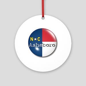 Asheboro North Carolina Flag Ornament (Round)