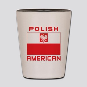 Polish American Falcon Flag Shot Glass