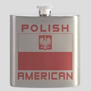 Polish American Falcon Flag Flask
