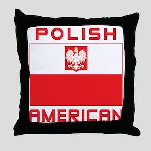 Polish American Falcon Flag Throw Pillow