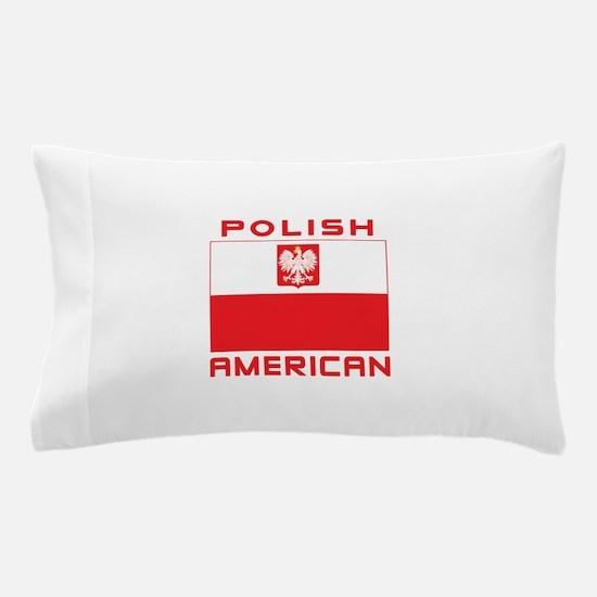 Polish American Falcon Flag Pillow Case