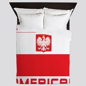 Polish American Falcon Flag Queen Duvet