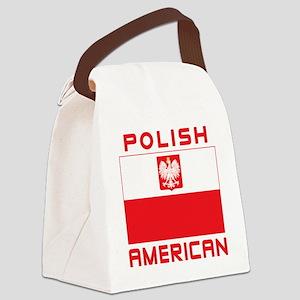 Polish American Falcon Flag Canvas Lunch Bag