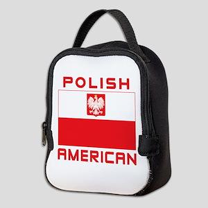 Polish American Falcon Flag Neoprene Lunch Bag