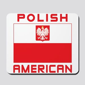 Polish American Falcon Flag Mousepad