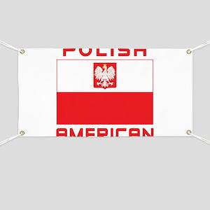 Polish American Falcon Flag Banner