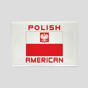 Polish American Falcon Flag Rectangle Magnet