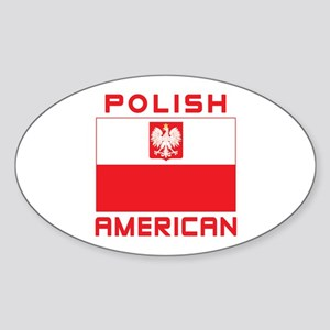 Polish American Falcon Flag Sticker (Oval)