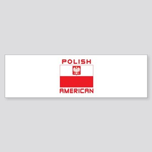 Polish American Falcon Flag Sticker (Bumper)