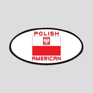 Polish American Falcon Flag Patches