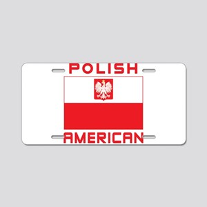Polish American Falcon Flag Aluminum License Plate
