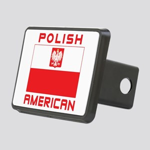 Polish American Falcon Flag Rectangular Hitch Cove