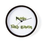 Pressley Family Historian Wall Clock