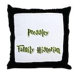Pressley Family Historian Throw Pillow