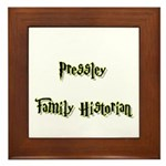 Pressley Family Historian Framed Tile