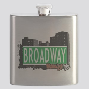 Broadway, BROOKLYN, NYC Flask