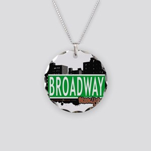 Broadway, BROOKLYN, NYC Necklace Circle Charm