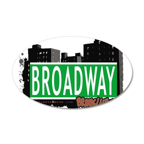Broadway, BROOKLYN, NYC 35x21 Oval Wall Decal