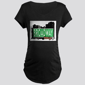 Broadway, BROOKLYN, NYC Maternity Dark T-Shirt