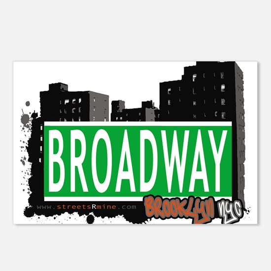 Broadway, BROOKLYN, NYC Postcards (Package of 8)