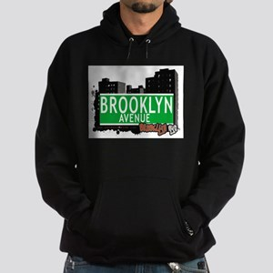 Brooklyn avenue, BROOKLYN, NYC Hoodie (dark)