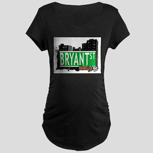 Bryant street, BROOKLYN, NYC Maternity Dark T-Shir